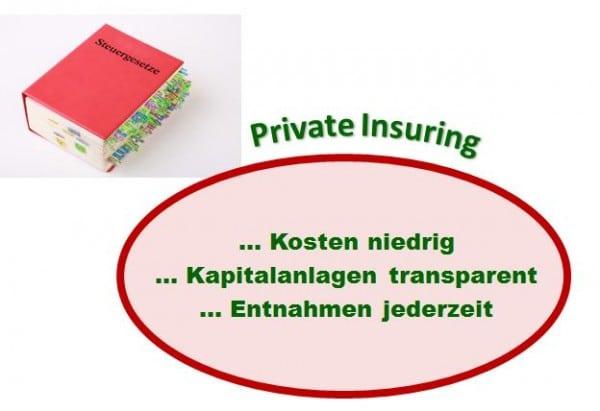 Ein Private-Insuring-Vertrag ist kostengünstig, transparent und jederzeit verfügbar