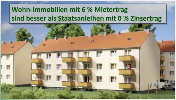 Immobilienfonds erwirtschaften 6 % Mietertrag statt 0 % Zinsertrag auf Sparkonten