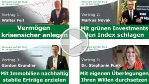 Seminare auf der Burg Videos von Pro Investor und ImmoChance Geschaeftsfuehrern